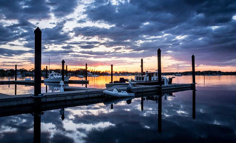 Sunsets Over Bristol Harbor, Rhode Island